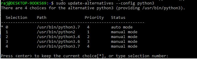 Switch between multiple Python versions