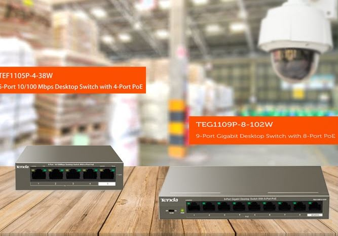 Tenda introduces two new PoE Switches- TEF1105P-4 and TEG1109P-8