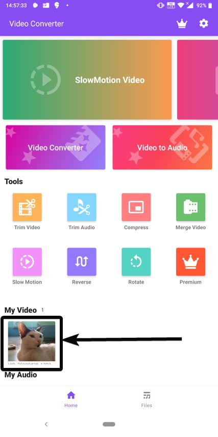 Video Converter on Android 13