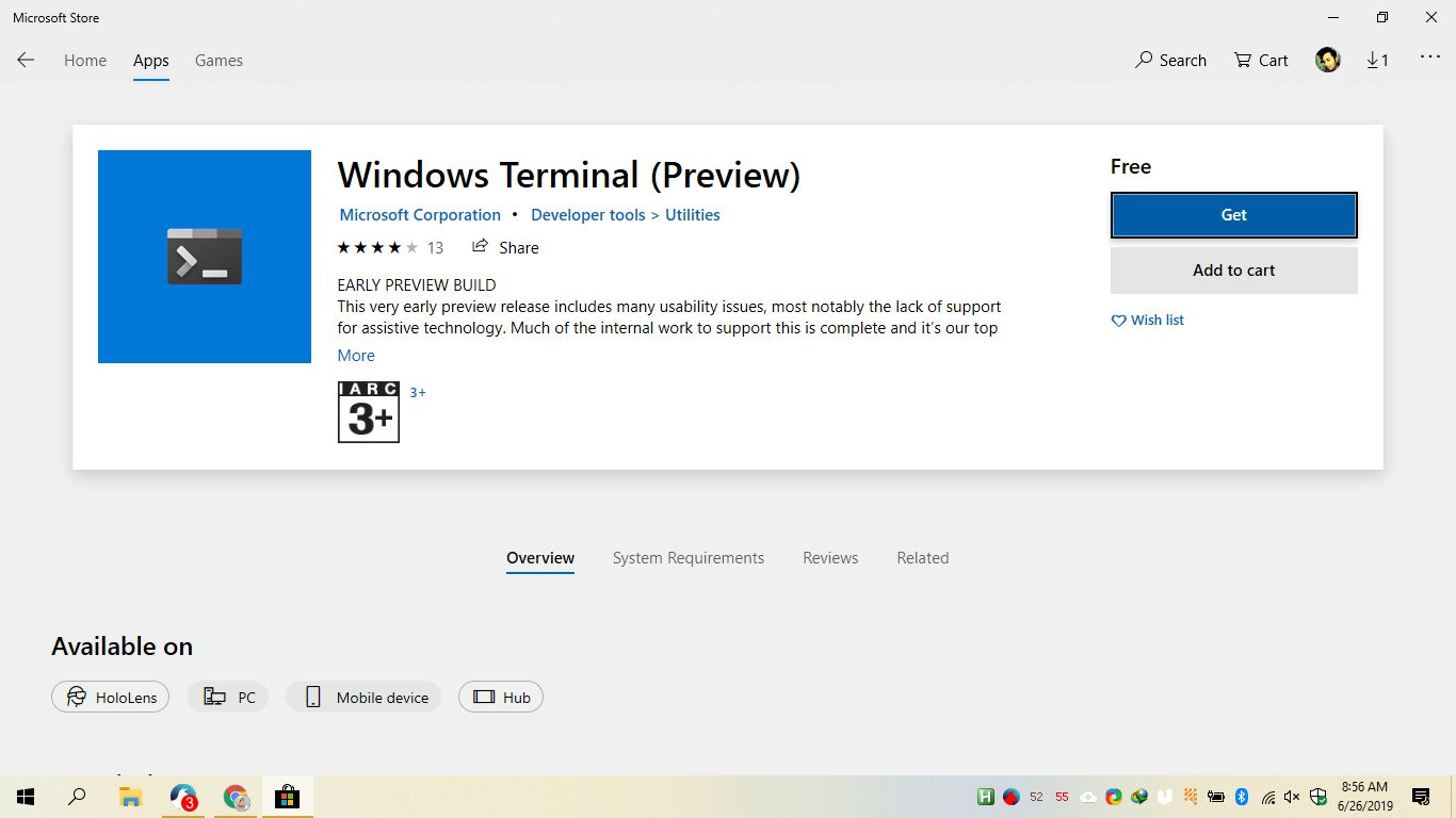 Download Windows Terminal