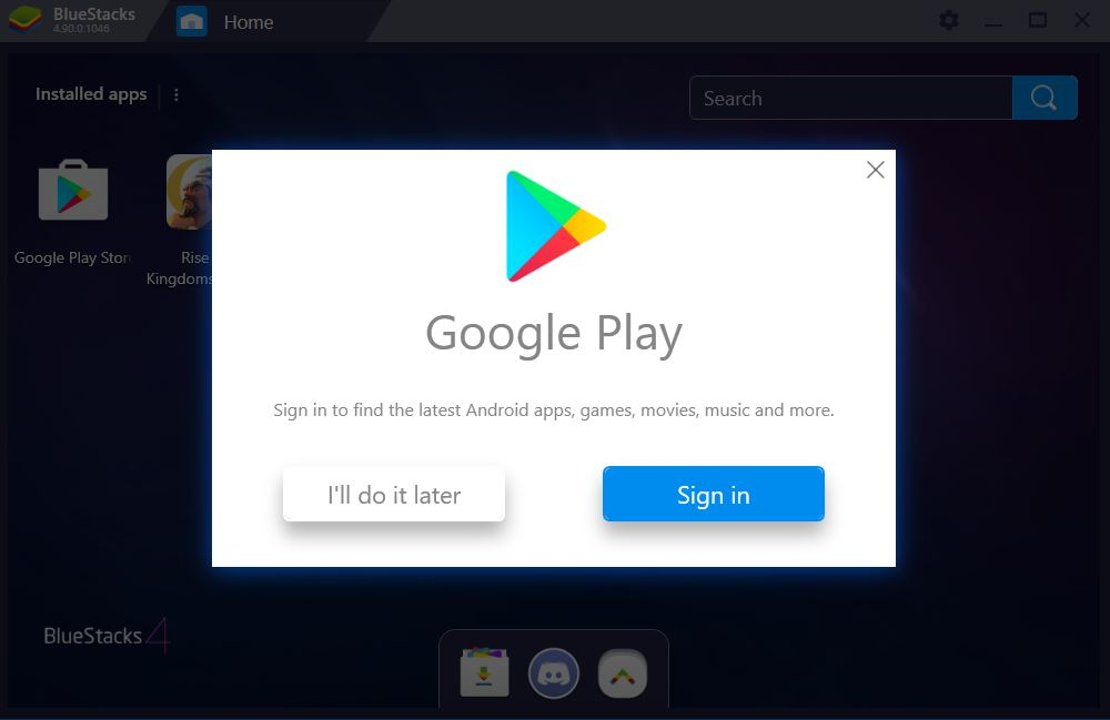 install Android apps on Bluestack WIndows 10