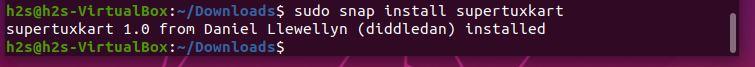 install supertuxkart using SNAP