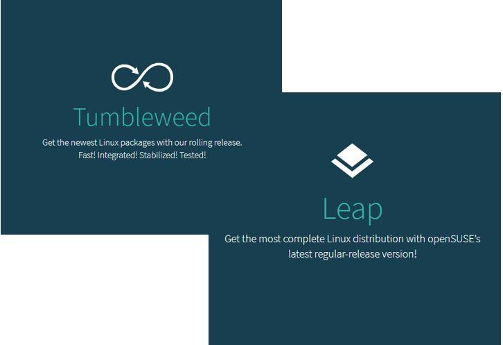 openSUSE Tumbleweed vs leap