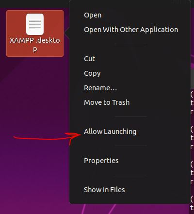 Allow launching of shortcut