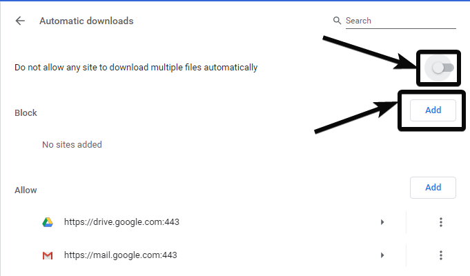Automatic Downloads in Chrome 4
