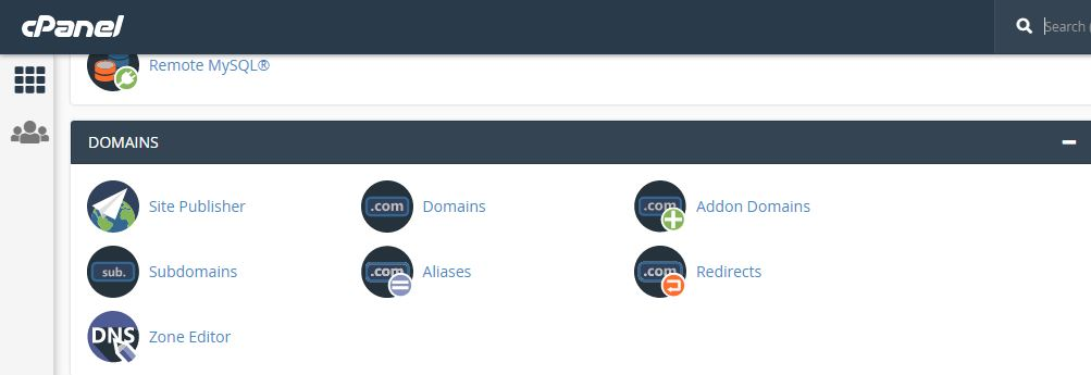Cpanel Subdomain option