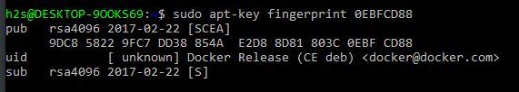 Docker official key