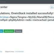 Open OneinStack default page