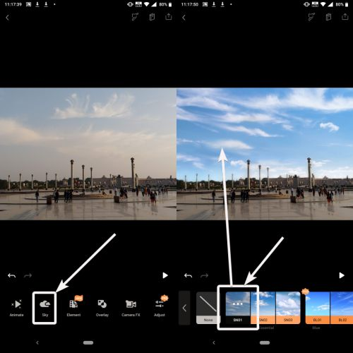 modify the sky in your existing photo