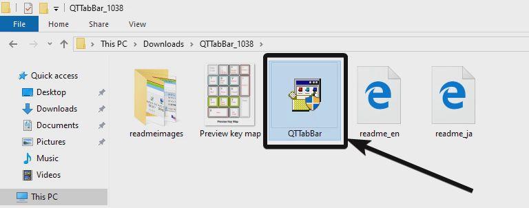 Install QTTabBar.exe file