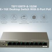 TEF1109TP-8-102W Desktop Switch With 8-Port PoE.
