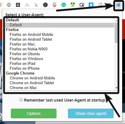 reload with the new browser user agent in action.
