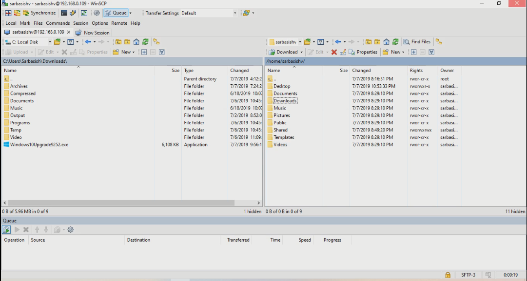 WinSCP for file transfer 6