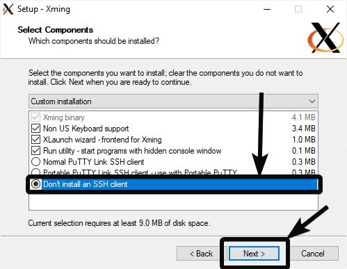 Downloading and installing Xming X Server