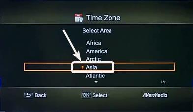 choose the Time Zone