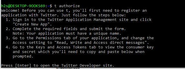 Autohorize twitter