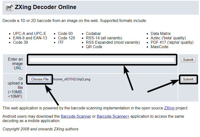 ZXing Decoder QR Code on PC online