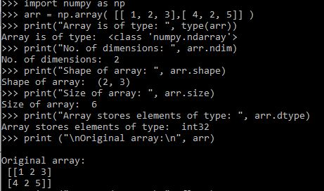 Example of Numpy