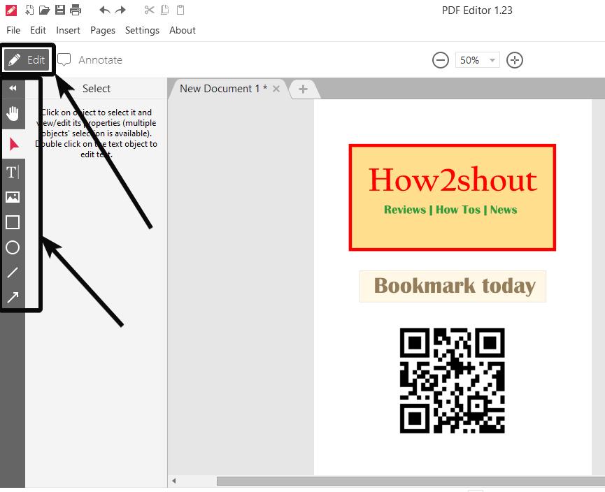 Icrcream PDF editor 3