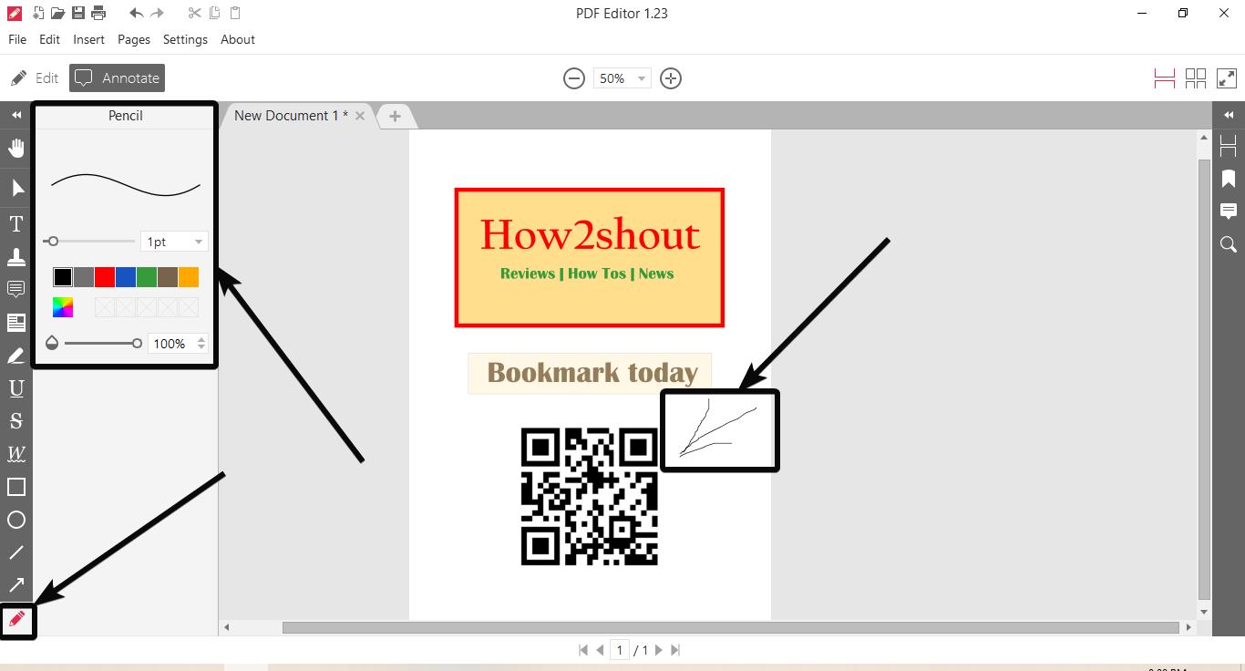 Annotate Icrcream PDF editor