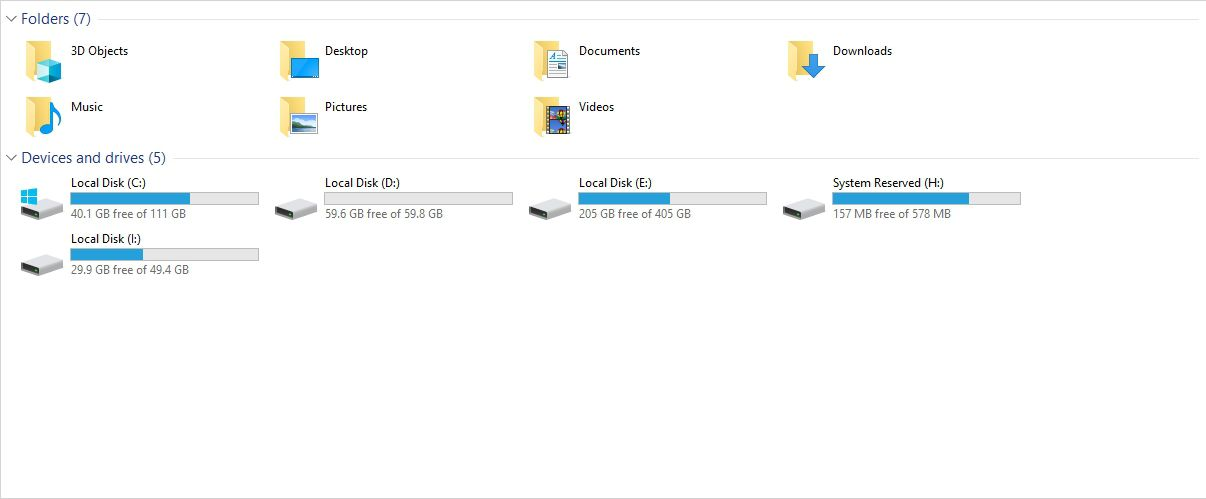 mounted disk image(s) in Windows Explorer.