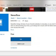 Newsflow app on Microsoft Windows 10
