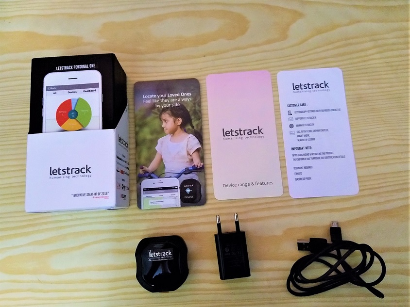 Personal tracker box Letstrack unboxing