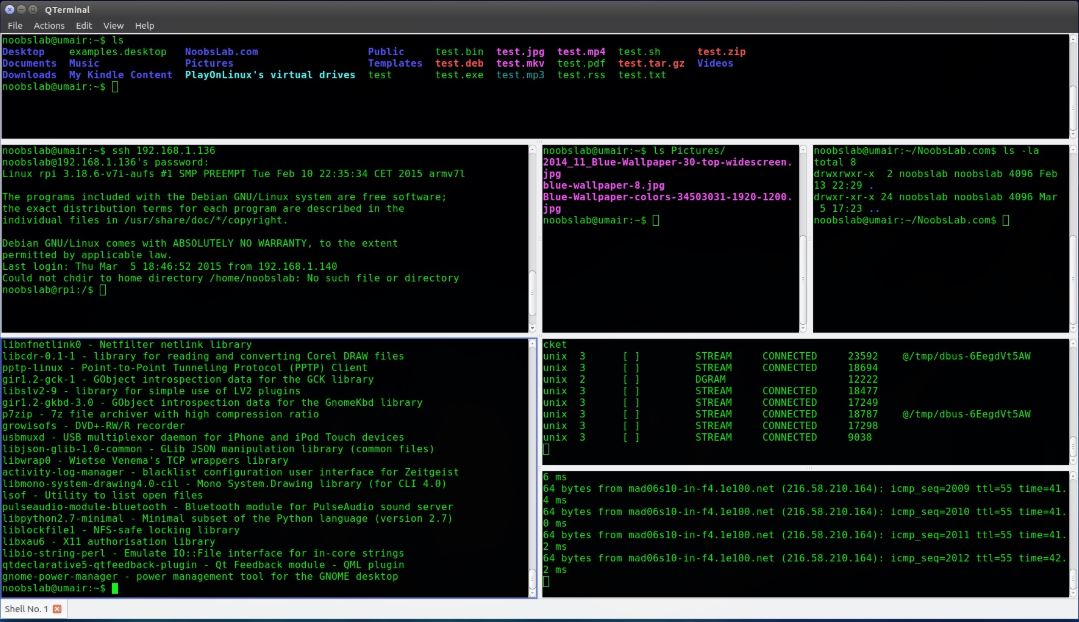 QTerminal- best lightweight Qt-based terminal emulator