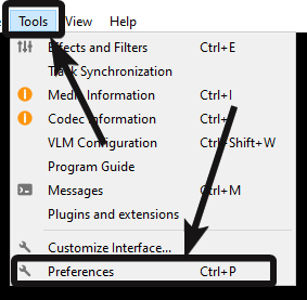 VLC Media interface configuration