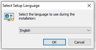 Select Setup Language