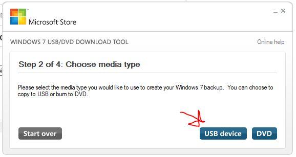 Select USB to make it WIndows bootable