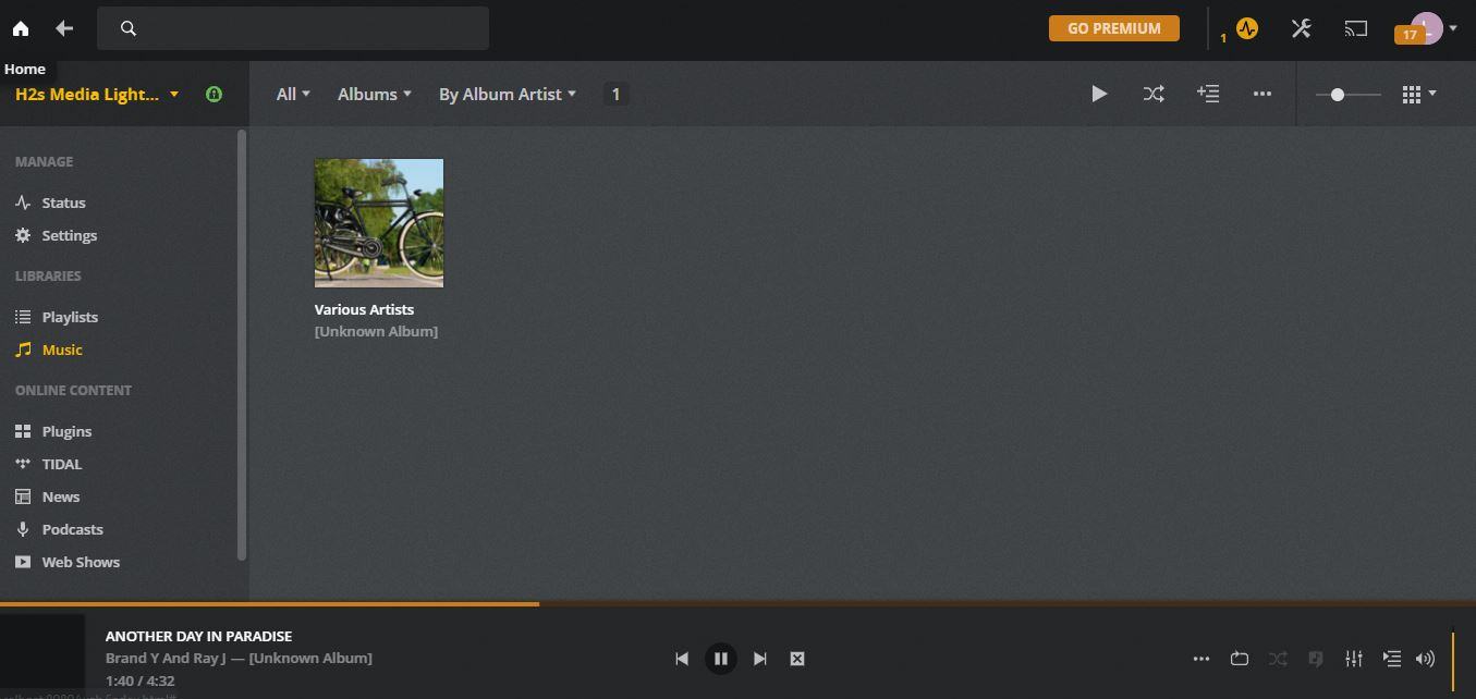 Upload music on Amazon Lightsail Plex Media server