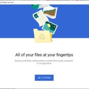 Welcome to Google Backup and sync
