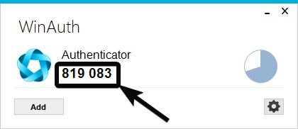 Authenticator code