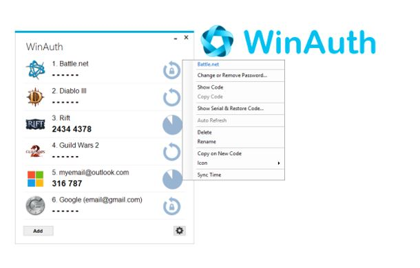WinAuth is an open-source Windows Authenticator supporting Google Authenticator