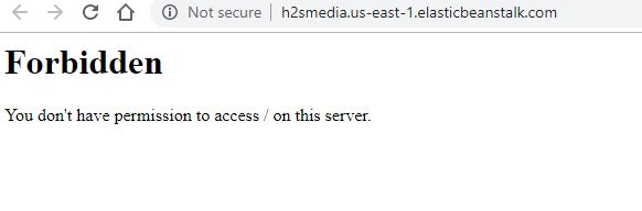 You don't have permission to access on this server.