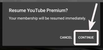Resume Youtube premium 2