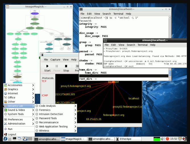 cybersecurity-focused Linux distribution is Fedora Security Spin