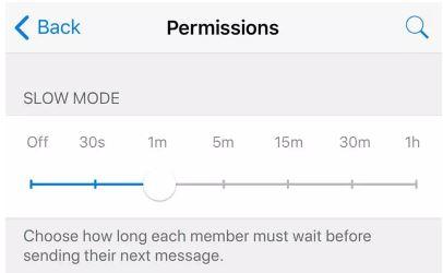 slow chat mode Telegram advantage