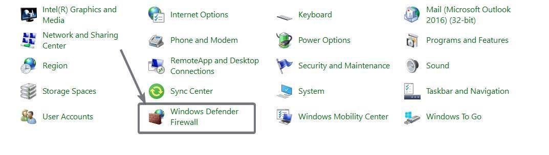 Allow or block apps on Windows Firewall on Windows 10 2