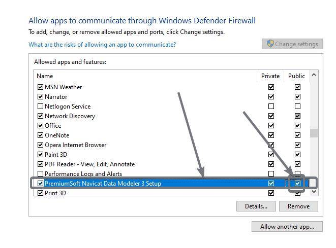 Allow Apps to communicate through Windows Defender Firewall