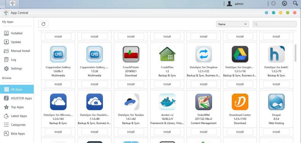 Asustor-ADM-App-store