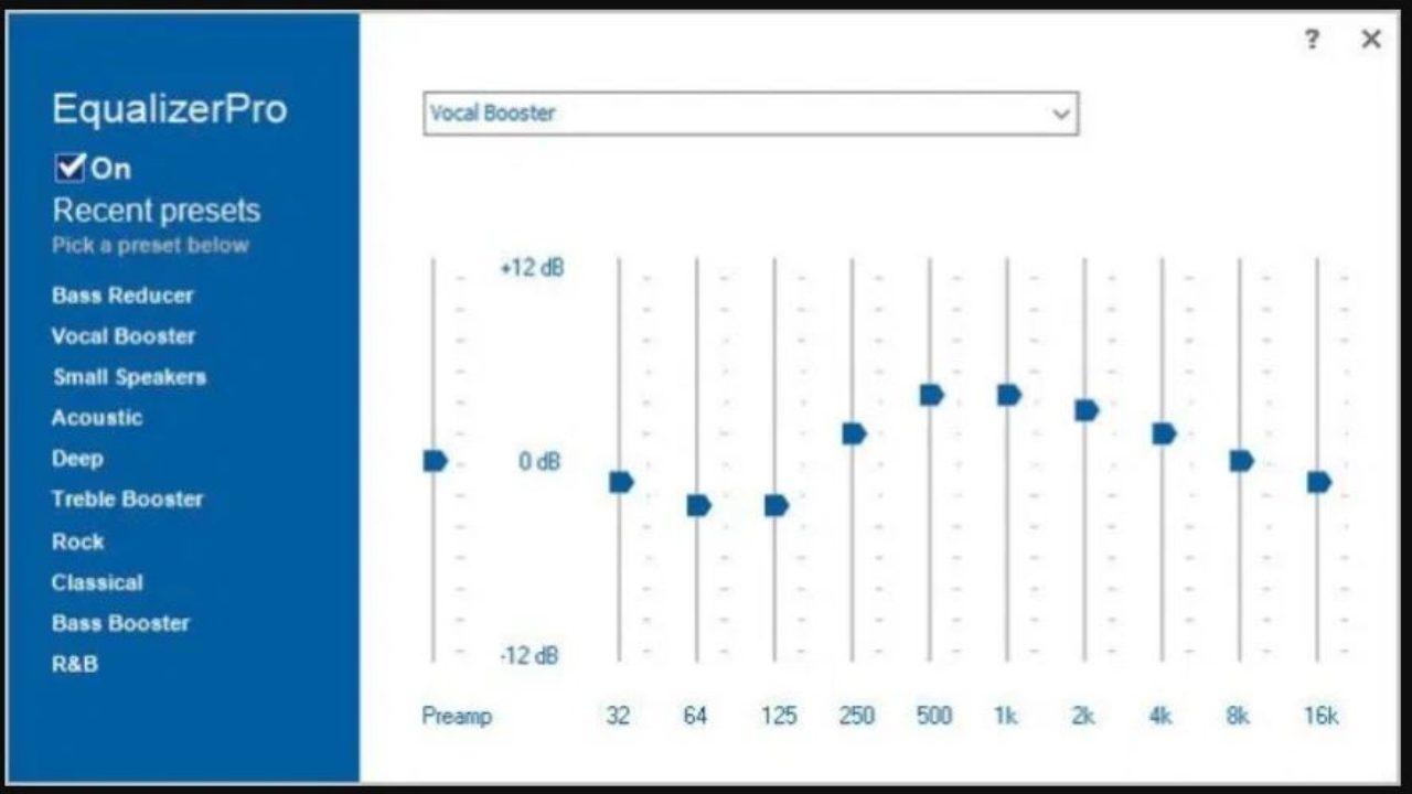 Best audio equalizer for Windows 10- Realtek, Equalizer Pro