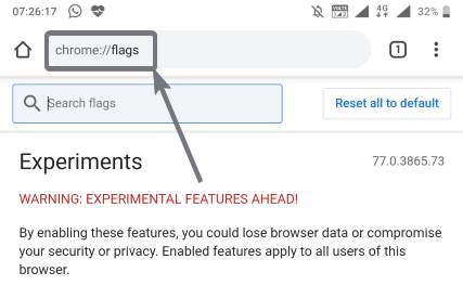 Bring Chrome toolbar to the bottom on Android 1