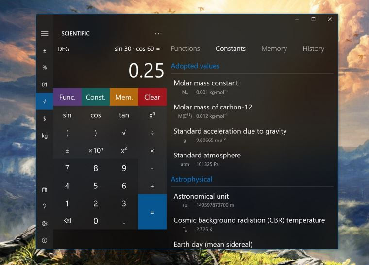 Calculator² Windows 10 calculator app
