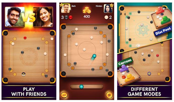 Caroom Pool multiplayer smartphone game