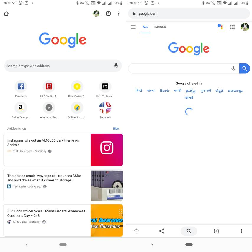 Chrome flags to change Chrome duet user interface Android