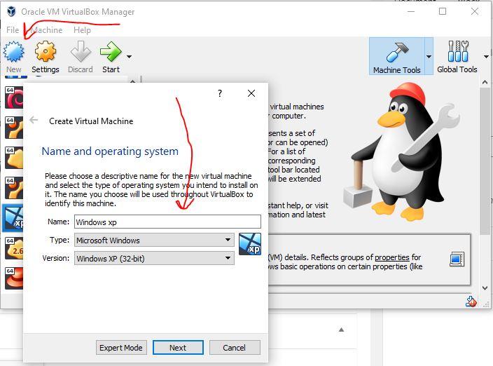 Create-Windows-Xp-vitural-machine