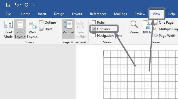 Enable 'Gridlines' on Microsoft Word and PowerPoint.
