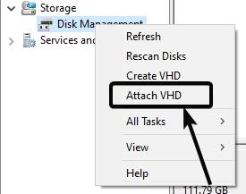 Create virtual hard drive 2